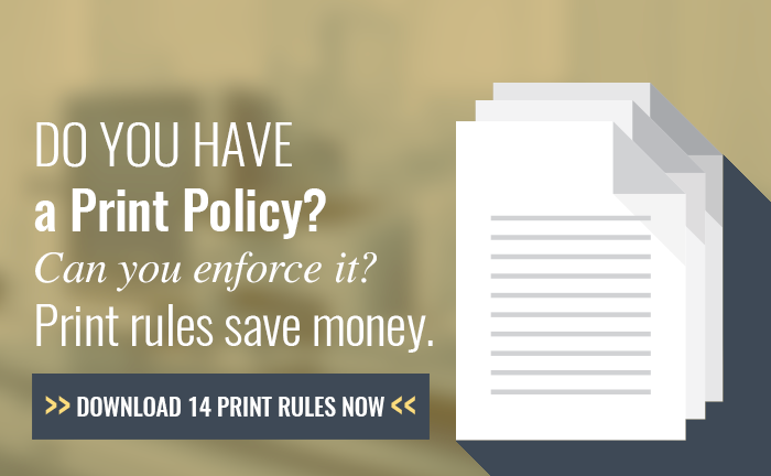 Print rules and habits to save real money