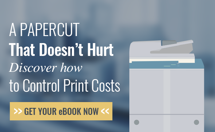 A PaperCut that doesn't hurt Discover how to control print costs. Get your eBook Now