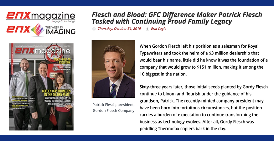 Patrick Flesch Featured in ENX Magazine's Difference Makers Issue