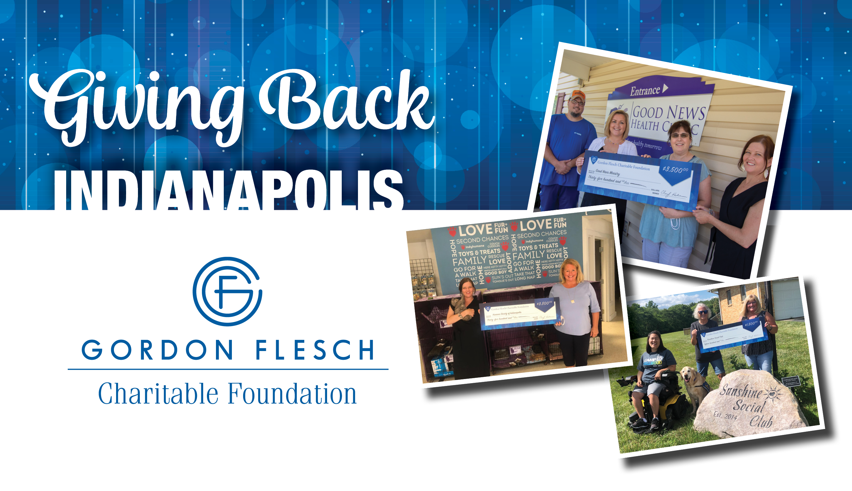 Gordon Flesch Charitable Foundation Donates $12,000 to Indianapolis-Area Charities