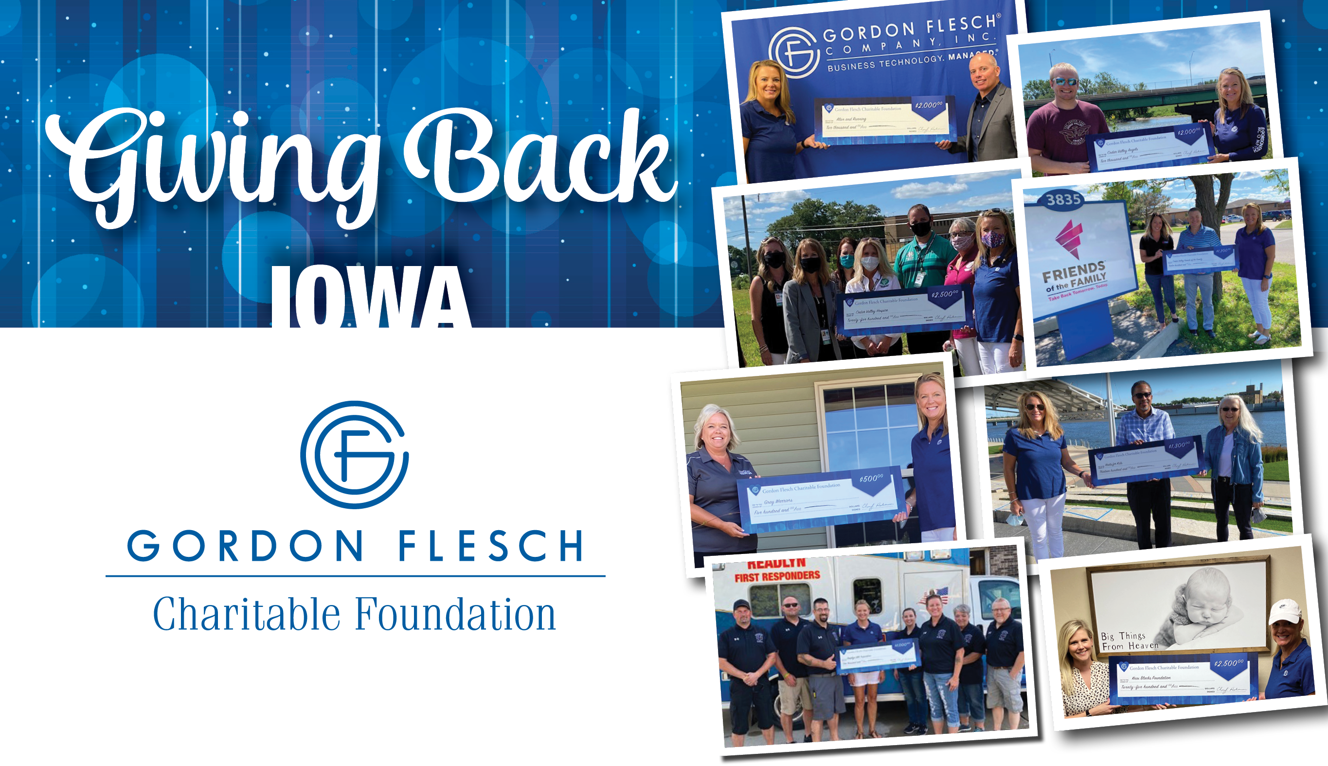 Gordon Flesch Charitable Foundation Donates $13,000 to Iowa-Area Charities