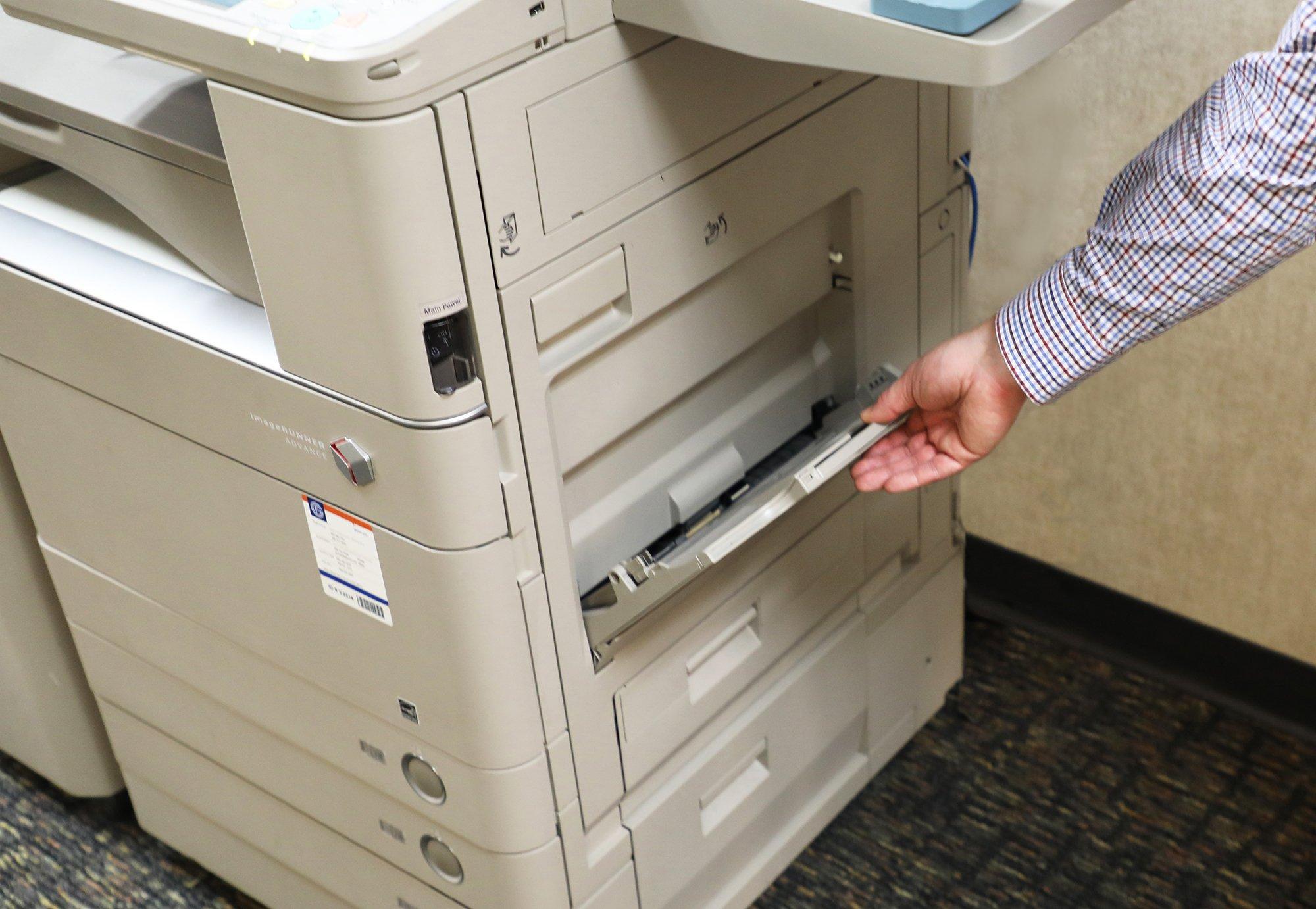 printer bypass tray