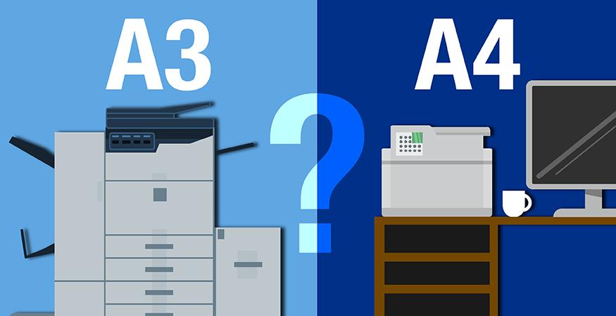 a3 a4 printer size