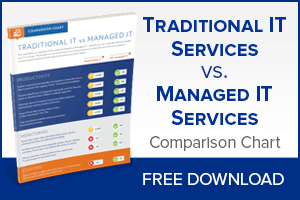 traditional IT services vs. managed IT services comparison chart