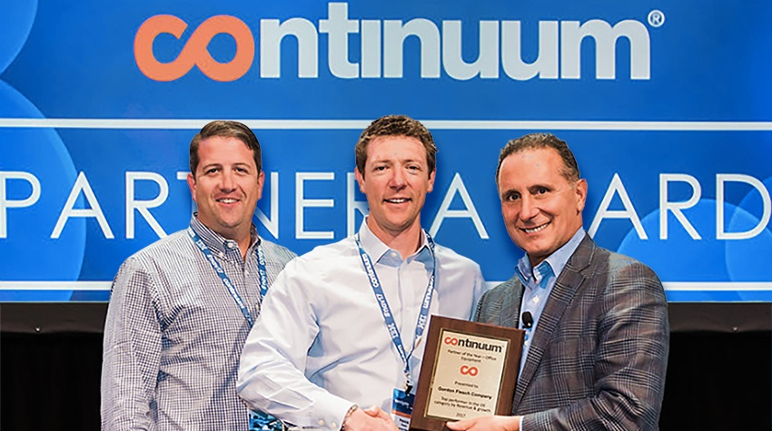 Continuum Honors GFC with Office Equipment Partner of the Year Award