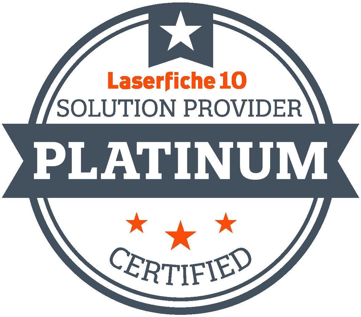 Laserfiche Certified Platinum Solution Provider