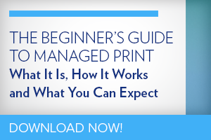 The beginner's guide to managed print. What it is. How it works and what you can expect.